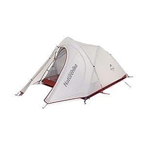 Naturehike 超軽量 キャンプ アウトドア 20Dチェック柄のナイロン PU防水4000mm 登山テント ツーリングテント 2人用 (グレー)