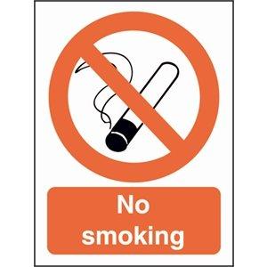 No Smoking Symbol Sign Self Adhesive Vinyl. 200 X 150Mm.