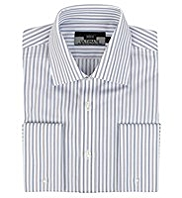2in Longer Performance Non-Iron Pure Cotton Striped Shirt