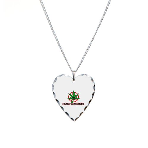 Necklace Heart Charm Marijuana Plant Manager