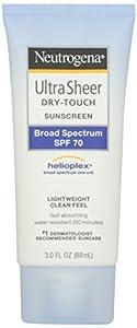 Neutrogena Ultra Sheer Dry-Touch Sunscreen, SPF 70, 88 ml