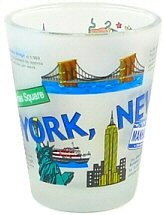 New York Shot Glass - Collage, New York Shot Glasses, New York City Souvenirs