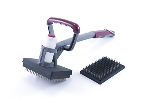 Chuck'S Choice Grill And BBQ Steam Cleaning Brush- To Sgb Clean Dirty Grill- Charcoal Grill Cleaner- Gas Grilll Cleaner- 2 Hand Steam Cleaner For Grill- Grill Grate Cleaner- Remove Charcoal Residue From Grill
