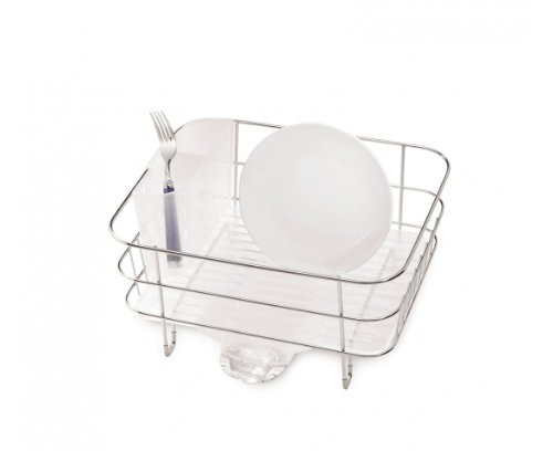 simplehuman Compact Wire Frame Dish Rack, Stainless Steel (Simplehuman Dish Drying Rack compare prices)