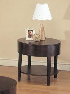 Image of Coaster 3940 Sleek Design Cappuccino End Table (B0040VAB7M)