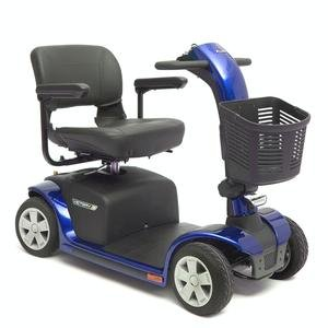 Victory 10 Pride Mobility 4-Wheel Electric Scooter Sc710 Blue + Free Accessories