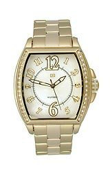 Tommy Hilfiger Abigail Gold-tone Barrel Mother-of-Pearl Dial Women's Watch #1780921