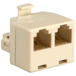 InstallerParts RJ12 1M/2F T Adapter Beige