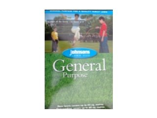 Johnsons Jgen10 General Purpose Seed 10Kg Bulk