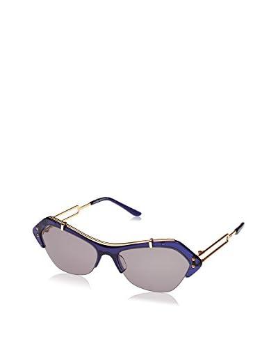 Tod'S Occhiali da sole To0166 (56 mm) Blu/Dorato