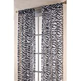 """Online Desire 1pc Solid Zebra 84"""" Long Elegant Sheer Curtains Fully Stitched Panels Window Treatment Drapes..."""