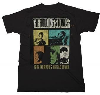 Rolling Stones '19th Nervous Breakdown' distressed black t-shirt (Large)