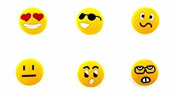 Tennis Vibration Dampeners-Emoji Faces Tennis Accessories for Kids Adults Pack of 6