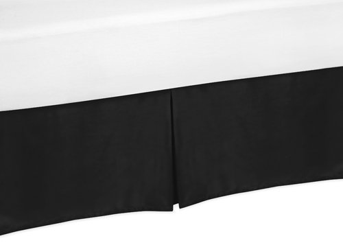 Black Twin Bed Skirt For Black And White Trellis Childrens And Teen Bedding Sets By Sweet Jojo Designs front-236150