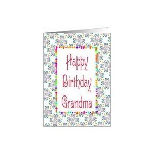 Amazon.com: Birthday-Grandma-Graphic Design Card: Healt