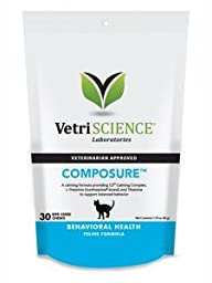 COMPOSURE FOR CATS,30 bite-sized chews 1.59oz/45g
