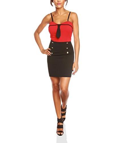 BANDIDA Vestido Marie Rojo / Negro