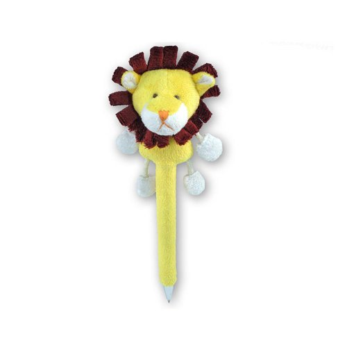 Puzzled Lion Plush Pen