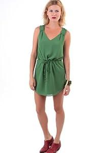 Material: Polyester  Shoulder: Tank   Neckline: V-Neck   Embellishments: Drawstring   Size Category: Adult
