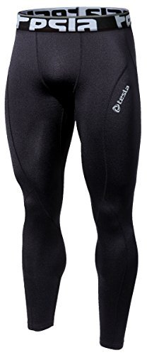 Tesla Men's Thermal Fleece Coldgear Compression Baselayer Pants Leggings Capri Shorts Tights P33, TM-P33-BB, Small, Black (Winter Sports Pants compare prices)