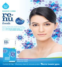 RENU FRESH contact lens solution SUITABLE FOR COLOR CONTACT LENSES