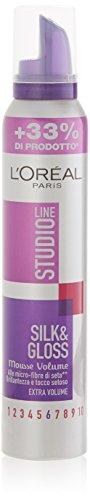 L'Oréal Paris Studio Line Silk&Gloss Volume Mousse Extra Volume, 200 ml