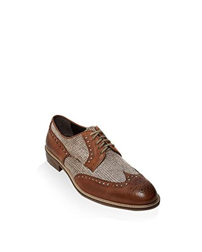British Passport Zapatos derby Wing Cap Marrón