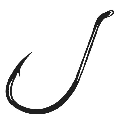 Gamakatsu 25 Pack Octopus Hook (Black, 4)