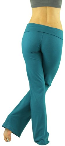 ToBeInStyle Women's Low Rise Sweatpants w/ Fold-Over Waistband