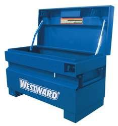 Westward 6DWU4 Jobsite Box, 36W x 17D x 21-1/4 In H, Blue