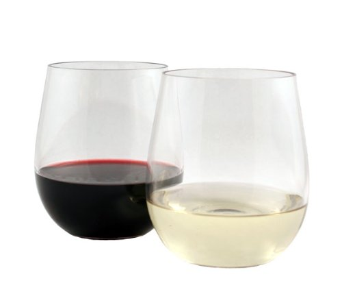 WineTanium Stemless Wine Glass, Shatterproof, Reusable, Dishwasher Safe - Set of 4