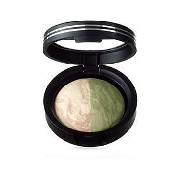 Marble Matte Baked Eyeshadow Duo, Peaches N Cream/Green Tea 0.06 Oz (1.8 G)