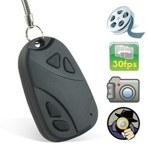 Umschalttaste HQ30 Mini Car Key Fob Ring Verkleidet Hidden Spy Camera Video Recorder
