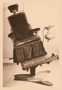 Framed Black poster printed on 20 x 30 stock. James Beall Morrison's Tilting Dental Chair