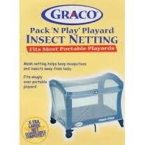 Graco Pack 'N Play Playard Insect Netting-fits Most Portable Playards-(xtra Large Net Covers Sides Completely) - 1
