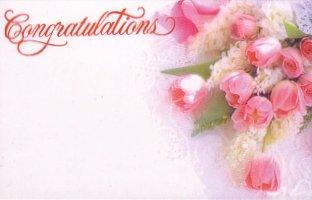 50 Memo/Enclosure/Floral/Gift Cards - Congratulations