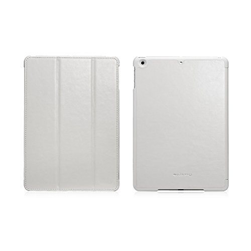 Ivapo Luxury Classic Vintage Folding Stand Function Auto Wake/Sleep Flip Cover Case For Ipad Air Ipad 5 (Mm461) (White)