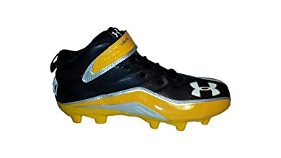 Buy Under Armour Team Fierce III MC Mens Molded Football Cleats (Black Gold) by Under Armour