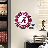 NCAA Alabama Crimson Tide Teammate Logo Fathead,11-Inch by 11-Inch,Red