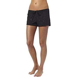 Fox Racing Darkness 2.5 inch Boardie Girls Boardshort Surf Swimming Shorts - Black / Size 9