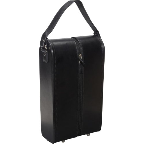 Sale!! AmeriLeather Leather Double Wine Case Holder (Black)