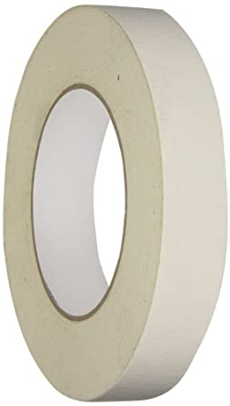 Intertape 592 Rubber/Resin Medium Grade Double Coated Flatback Tape with White Liner, 0.26mm Thick x 32.9m Length x 24mm Width, Natural (Case of 36 Rolls)