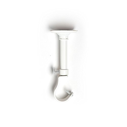 Roomdividersnow 108in 168in hanging curtain rod with for Hardware for hanging curtains