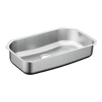 Moen G181631 1800 Series 18 Gauge Single Bowl Drop-In Sink, Stainless Steel