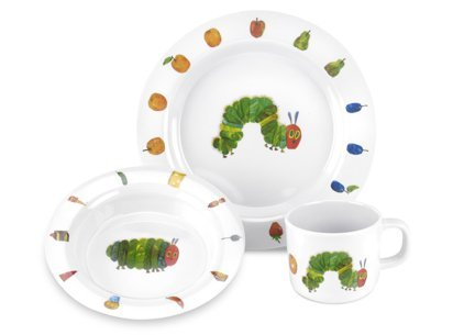Very Hungry Caterpillar Melamine plate bowl and mug set