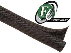 """Techflex F6 Woven Wrap 1/2"""" 10' Wiring Split Wire Covering F6W0.50Bk"""