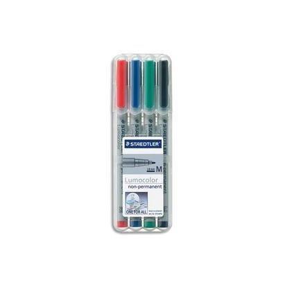 Lumocolor marqueur non-permanent 315M, étui de 4
