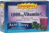 Emergen-C Immune Plus System Support,1000mg,30/BX,Citrus, Sold as 1 Box
