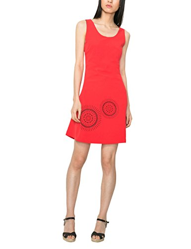 Desigual Damen A-Linie Kleid BARCELONETA, Knielang, Gr. 42 (Herstellergröße: 44), Rosa (FRESA 3001) thumbnail