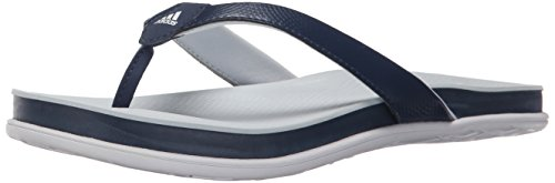 Adidas Performance Women's Supercloud Plus Thong W Athletic Sandal,Blue/Halo Blue/White,7 M US